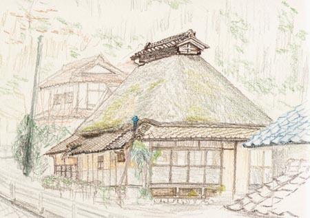 上瀬野町、茅葺き屋根の民家.jpg