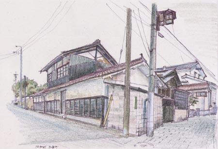 東広島市西条町、三叉路の民家.jpg