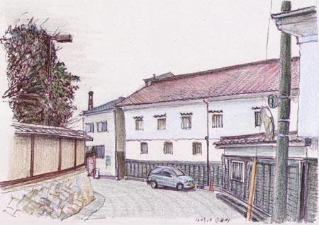 東広島市西条町、本陣の壁.jpg