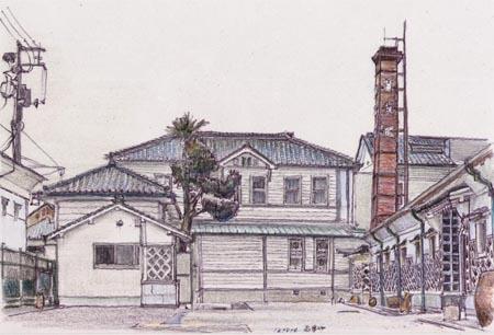 東広島市西条町、賀茂鶴の煙突.jpg
